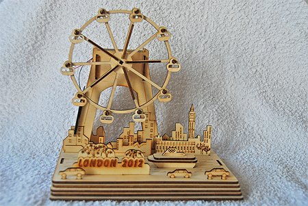 Solarbausatz London Eye 2012 aus Holz